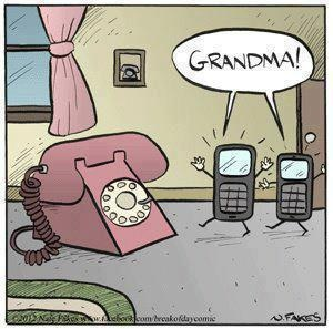 grandma+phone+cartoon