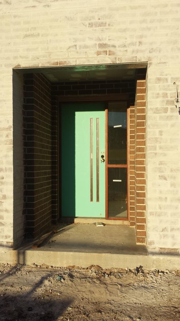 Front door installed.