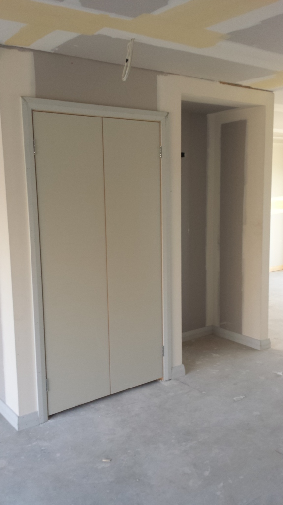 Pantry doors installed.