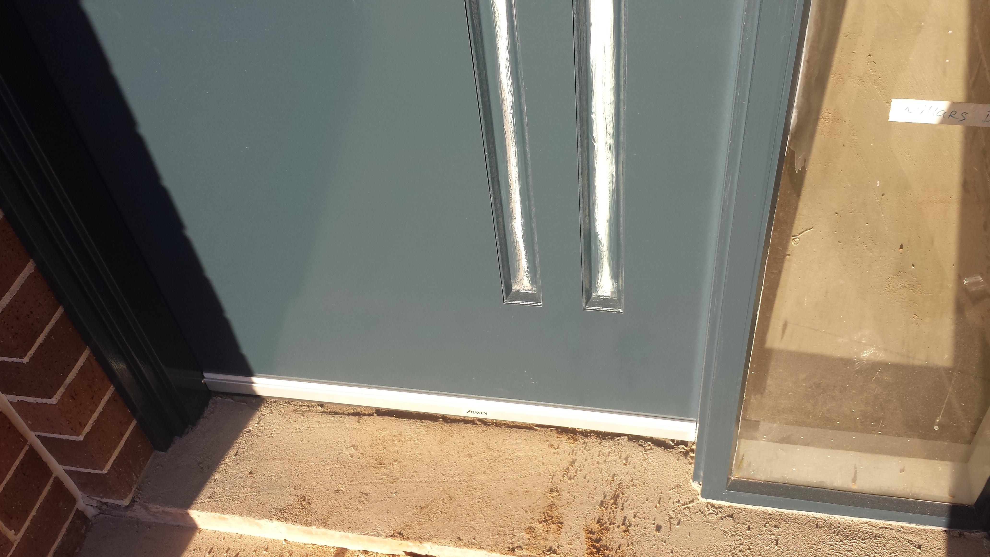 Garage door window hoods and toilets cornerstone26 for Front door weather stripping